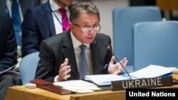 Посол України в ООН Юрій Сергєєв виступає на засіданні Ради безпеки, архівне фото