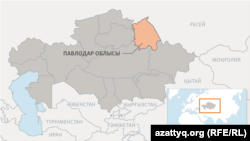 Павлодар облысының картасы.