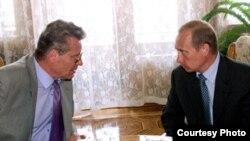 Petru Lucinschi și Vladimir Putin