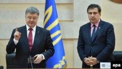 Президент Петро Порошенко Михаил Саакашвилини жаңы кызматка дайындады. Одесса, 30-май, 2015.