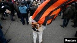 Митинг в Москве в поддержку политики Путина на Украине