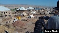Новые дома для пострадавших от селя в Хуросонском районе