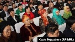 """Участники форума """"Женщина и религия"""". Алматы, 4 марта 2013 года."""