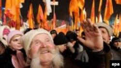 """Празднование первой годовщины """"оранжевой революции"""" в Киеве, 2005-й год"""