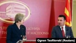 Premijeri Makedonije i Velike Britanije Zoran Zaev i Tereza Mej u Skoplju, 17. maja 2018.