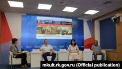 """Crimea, Ukraine - press conference dedicated to the implementation """"of the Crimea Chronicles"""" festival"""