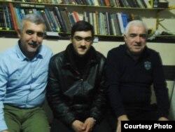 soldan sağa: Rasim Qaraca, Həmid Piriyev, Rəhim Əliyev