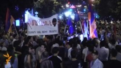 Armenian Protesters Throw Down EU Flag In Yerevan
