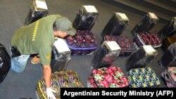 Чемоданы с кокаином, найденные аргентинской полицией в школе посольства России.
