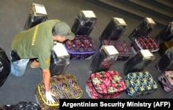 Чемоданы с кокаином, найденные в российском посольстве в Аргентине