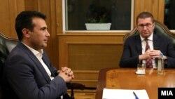 Средба на лидерите на СДСМ и на ВМРО ДПМНЕ Зоран Заев и Христијан Мицкоски во Владата