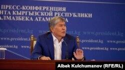 Президент Алмазбек Атамбаев. Чолпон-Ата. 24.7.2017.