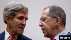 U.S. Secretary of State John Kerry (left) with Russia's Foreign Minister Sergei Lavrov (file photo)