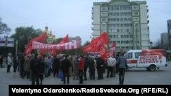 Комуністична демонстрація в Рівному, 1 травня 2013 року