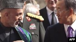 Карзаи и Генералниот секретар на ОН Бан Ки Мун 02.11.09