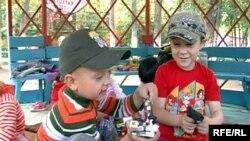 Дети в одном из детских садиков города Темиртау.