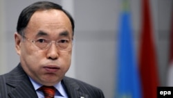 "The Kazakh Foreign Ministry calls the Kyrgyz crisis a ""big test"" for Kazakhstan's OSCE chairmanship. Pictured here: Kazakh Foreign Minister Kanat Saudabaev, who is also the OSCE's chairman in office."