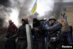 Площадь Независимости в Киеве, 20 февраля 2014 года