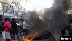 Two people died during opposition protests in Tehran on February 14.