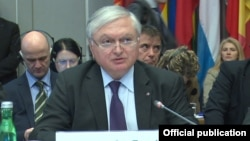 Austria - Armenian Foreign Minister Edward Nalbandian addresses the OSCE Permanent Council's special meeting, Vienna,11Mar2015