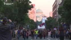 Thousands March Again Against Serbian Government