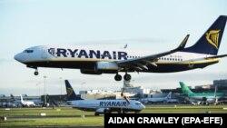 Ryanair gépek a dublini repülőtéren, 2017. szeptember 28-án