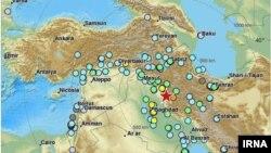 Epiqendra e termetit të fuqishëm që ka goditur Iranin dhe Irakun.
