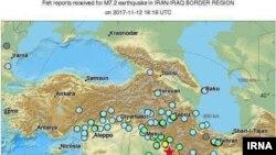 Район землетрясения на границе Ирана и Ирака. 12 ноября 2017 года.