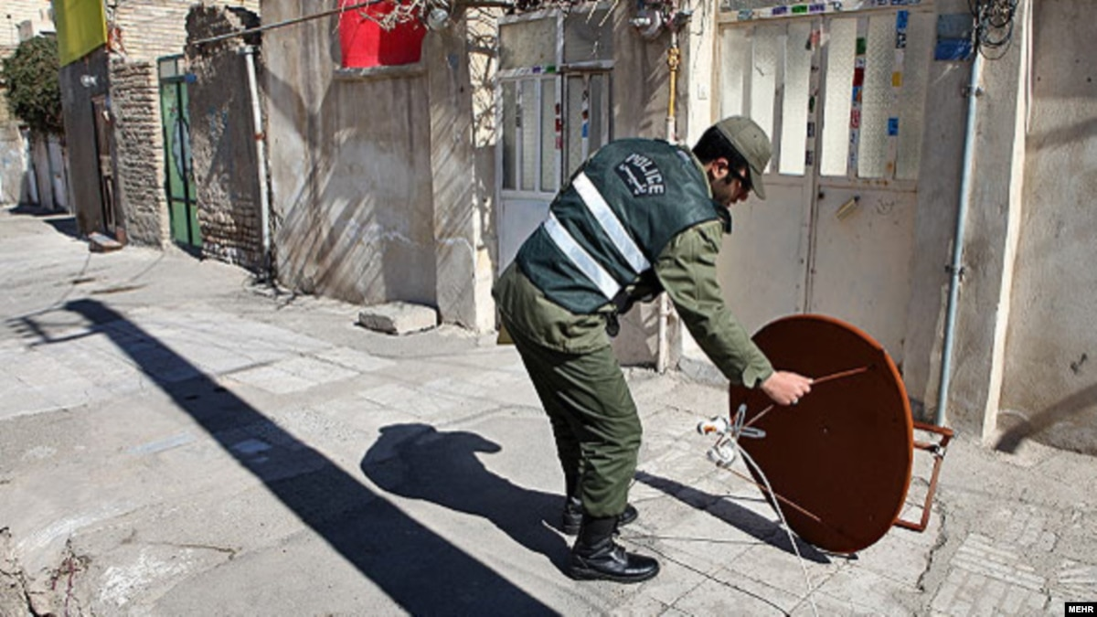 Nothing Comes Between Iranians And Their Satellite Dishes Not Even The Police