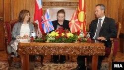 Средба на претседателот на Собранието Трајко Вељаноски со Баронесата Д`Суза, спикер на Горниот дом на Парламентот на Обединетото кралство на Велика Британија и Северна Ирска.