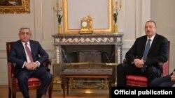 Встреча президентов Армении и Азербайджана в Берне, 19 декабря 2015 г.