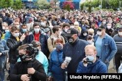 Акція протесту біля Комаровського ринку в Мінську останніх вихідних