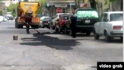 Bakıda yol təmiri- 24 aprel 2012