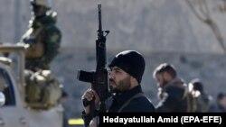 Афганські сили безпеки на місці теракту, ілюстративне фото