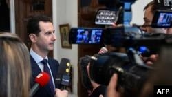 Президент Сирии Башар Асад дает интервью французским СМИ. Дамаск, 9 января 2017 года.