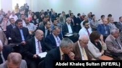 """جانب من مؤتمر """"القوانين البديلة تطوير للقوانين العراقية"""" في دهوك"""