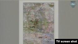 Karta s pronađenim lokacijama masovnih grobnica