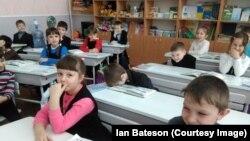 La școala din Bahmut, Ucraina
