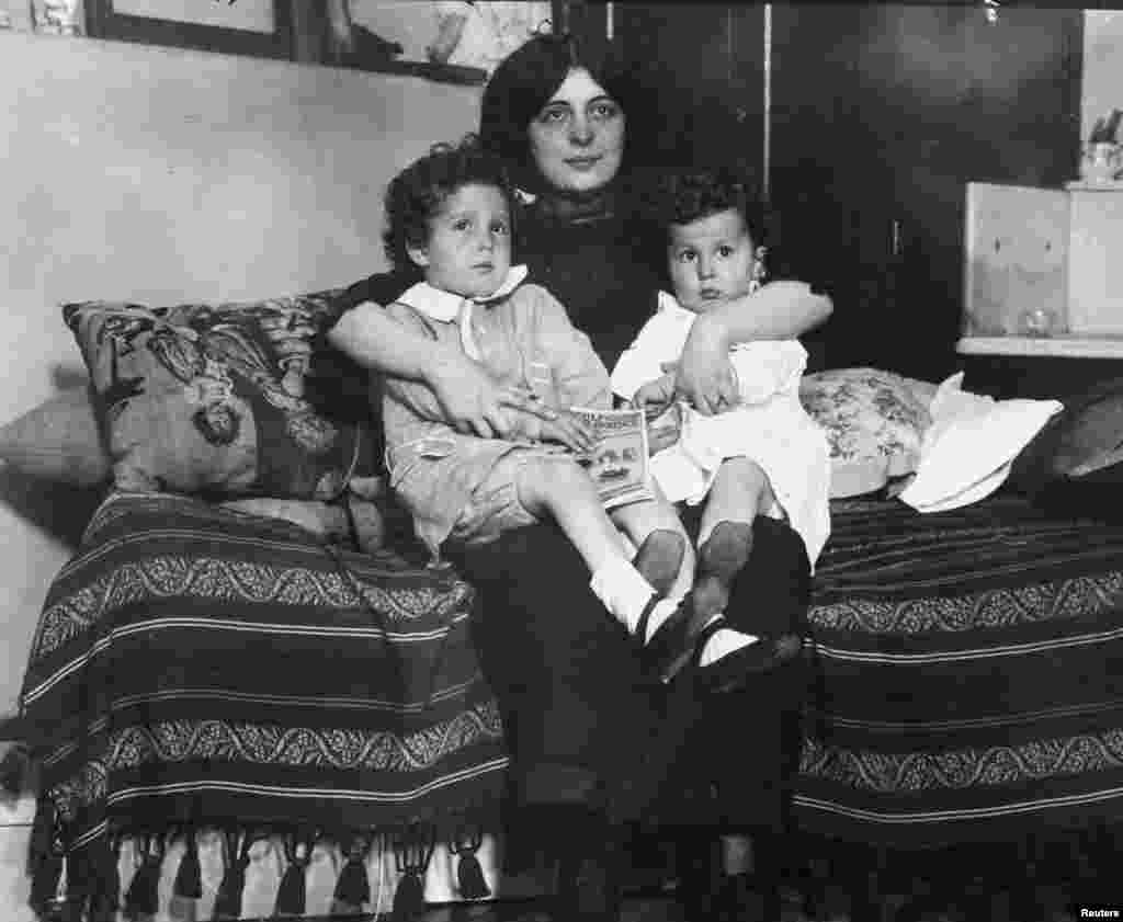 The boys were reunited with their mother, Marcelle, on May 16, 1912.