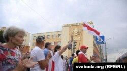 Qrodna şəhərində aksiya, 19 avqust 2020