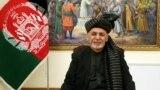 Prezident Aşraf Gani owgan TW-sinde göni efirde çykyş edýär. Kabul, 28-nji ýanwar, 2019 ý.