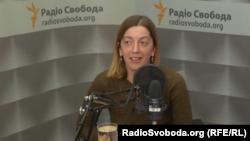 Катерина Сергацкова в студії Радіо Свобода, архівне фото