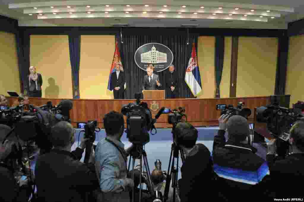 Vanredna press konferencija u zgradi Vlade Srbije povodom hapšenja Darka Šarića