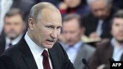 Путин өзүнүн шайлоо штабынын активисттери менен жолугууда. 29-февраль, Москва.