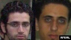 بابک زمانیان (راست) در دادگاه انقلاب محاکمه شد و همزمان پدارم رفعتی از دیگر دانشجویان دانشگاه امیر کبیر بازداشت شد.