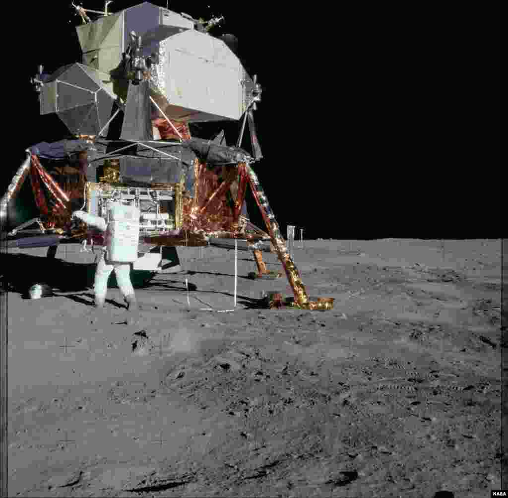 Модуль для висадки на Місяць розробила компаніяGrumman, котра до 1994 року була найбільшим виробником громадянських та військових літаків у США
