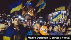 Киевляне осенью 2013 года выступили на Майдане за европейский выбор Украины