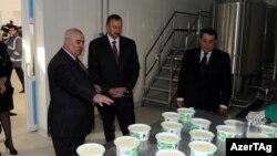 İ.Əliyev Tovuz Süd Emalı Zavodunun açılışında