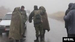 Военнослужащие на узбекско-кыргызской границе. Март, 2016 года.
