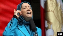 مریم رجوی، از رهبران سازمان مجاهدین خلق.